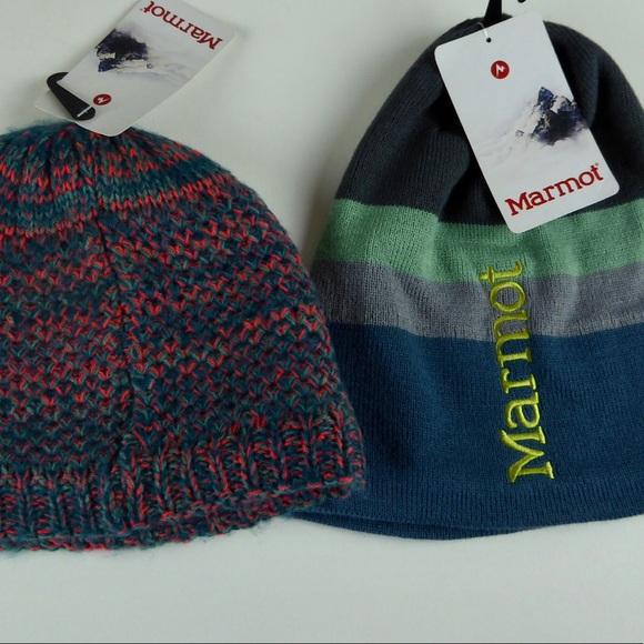 3bace0621 Marmot 2 Hat Bundle Kelly & Ryan Knit Sherpa NWT NWT